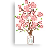 Pixelated Blossom Tree Canvas Print