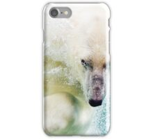 Polar Bear In Water iPhone Case/Skin