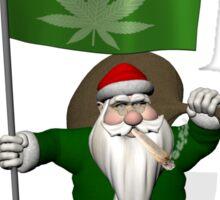 Santa Claus Always In Best Mood Sticker