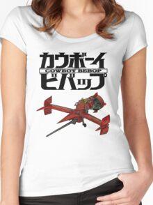 Cowboy Bebop - Logo & Ship Women's Fitted Scoop T-Shirt