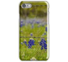 Bluebonnets & Barb Wire iPhone Case/Skin