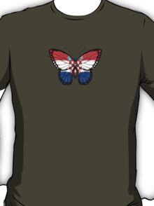 Croatian Flag Butterfly T-Shirt