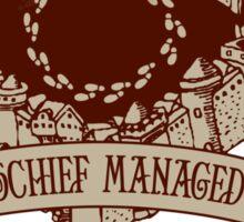 Mischief Managed Castle Sticker