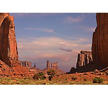 Monument Valley - Mars-like terrain Photographic Print