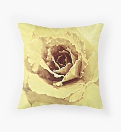 Faded Bloom Throw Cushion Throw Pillow