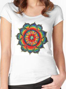 Rainbow Mandala Women's Fitted Scoop T-Shirt