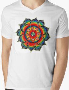 Rainbow Mandala Mens V-Neck T-Shirt