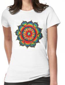 Rainbow Mandala Womens Fitted T-Shirt