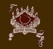 Mischief Managed Castle - iPad Case by JennDePaolaArt