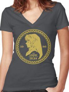 The Legend Of Zelda - 1986 Women's Fitted V-Neck T-Shirt