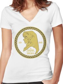 The Legend Of Zelda - 1986 Women's Fitted V-Neck T-Shirt