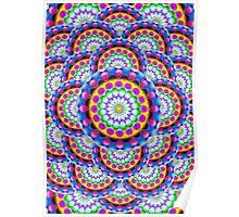 Mandala Psychedelic Visions Poster