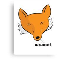 Fox Breaks Silence Canvas Print