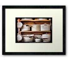 Stock Pots Framed Print