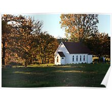 Dovedale country church Poster