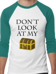 Don't look at my chest Men's Baseball ¾ T-Shirt
