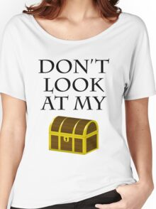 Don't look at my chest Women's Relaxed Fit T-Shirt