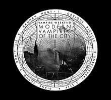 Modern Vampires of the City (White) Throw Pillow  by exeters