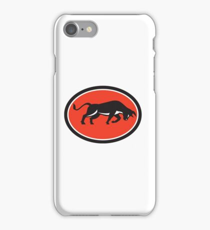 Raging Bull Attacking Charging Retro iPhone Case/Skin