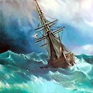 Tempest after Ivan Aivazovsky by Hidemi Tada