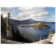 Crater Lake - Intense blue waters and spectacular views Poster