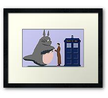 Totoro Doctor Who Framed Print
