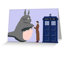 Totoro Doctor Who Greeting Card