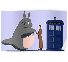 Totoro Doctor Who Poster