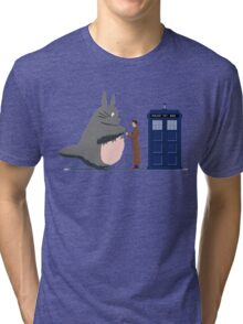 Totoro Doctor Who Tri-blend T-Shirt