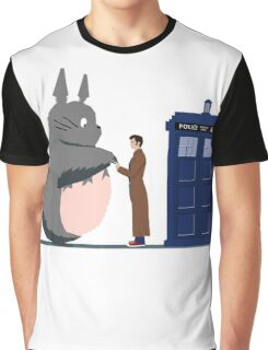 Totoro Doctor Who Graphic T-Shirt