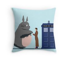 Totoro Doctor Who Throw Pillow