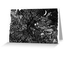 Moon Garden Dream Greeting Card