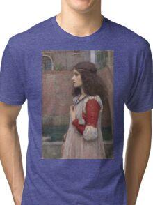 John William Waterhouse - Juliet. Woman portrait: sensual woman, girly art, female style, pretty women, femine, beautiful dress, cute, creativity, love, sexy  Tri-blend T-Shirt