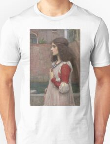 John William Waterhouse - Juliet. Woman portrait: sensual woman, girly art, female style, pretty women, femine, beautiful dress, cute, creativity, love, sexy  Unisex T-Shirt
