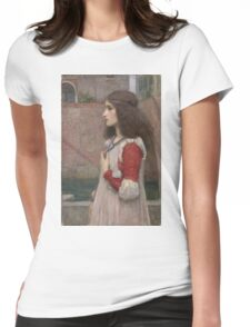 John William Waterhouse - Juliet. Woman portrait: sensual woman, girly art, female style, pretty women, femine, beautiful dress, cute, creativity, love, sexy  Womens Fitted T-Shirt