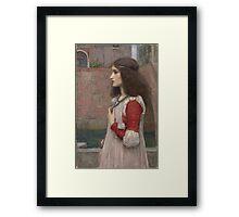 John William Waterhouse - Juliet. Woman portrait: sensual woman, girly art, female style, pretty women, femine, beautiful dress, cute, creativity, love, sexy  Framed Print