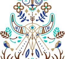 La Vie & La Mort – Turquoise and Brown Sticker