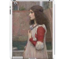 John William Waterhouse - Juliet. Woman portrait: sensual woman, girly art, female style, pretty women, femine, beautiful dress, cute, creativity, love, sexy  iPad Case/Skin