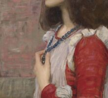 John William Waterhouse - Juliet. Woman portrait: sensual woman, girly art, female style, pretty women, femine, beautiful dress, cute, creativity, love, sexy  Sticker