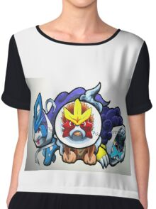 pokemon legendary dogs Chiffon Top