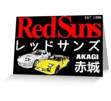 Initial D - Akagi RedSuns Greeting Card
