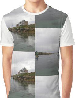 Blue Boat - Rutland Island - Donegal -  Ireland Graphic T-Shirt