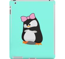 Angry Girly Cute Penguin with Pink Bow iPad Case/Skin