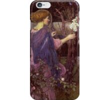 John William Waterhouse - The Annunciation. Woman portrait: sensual woman, girly art, female style, pretty women, femine, beautiful dress, cute,  love iPhone Case/Skin