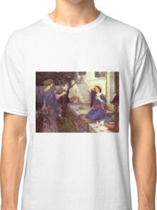 John William Waterhouse - The Annunciation. Woman portrait: sensual woman, girly art, female style, pretty women, femine, beautiful dress, cute,  love Classic T-Shirt