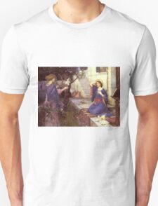 John William Waterhouse - The Annunciation. Woman portrait: sensual woman, girly art, female style, pretty women, femine, beautiful dress, cute,  love Unisex T-Shirt