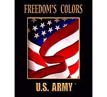 FREEDOM'S COLORS Army Photographic Print