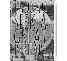 John Green -- Great Perhaps 001 iPad Case/Skin