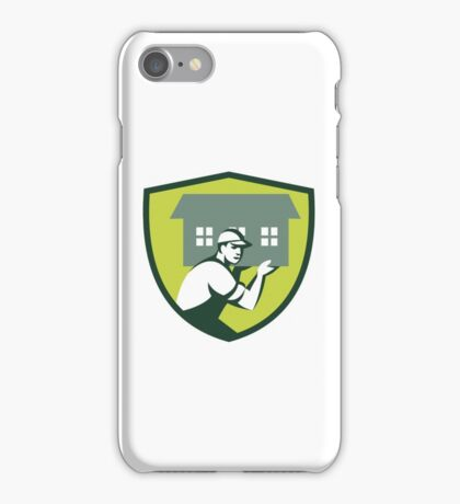 House Remover Carrying House Shoulder Crest Retro iPhone Case/Skin