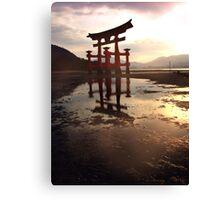 Sunset at Miyajima Canvas Print